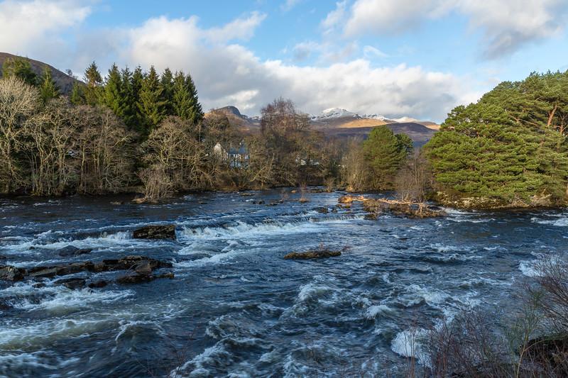 Killin - views across River Dochart