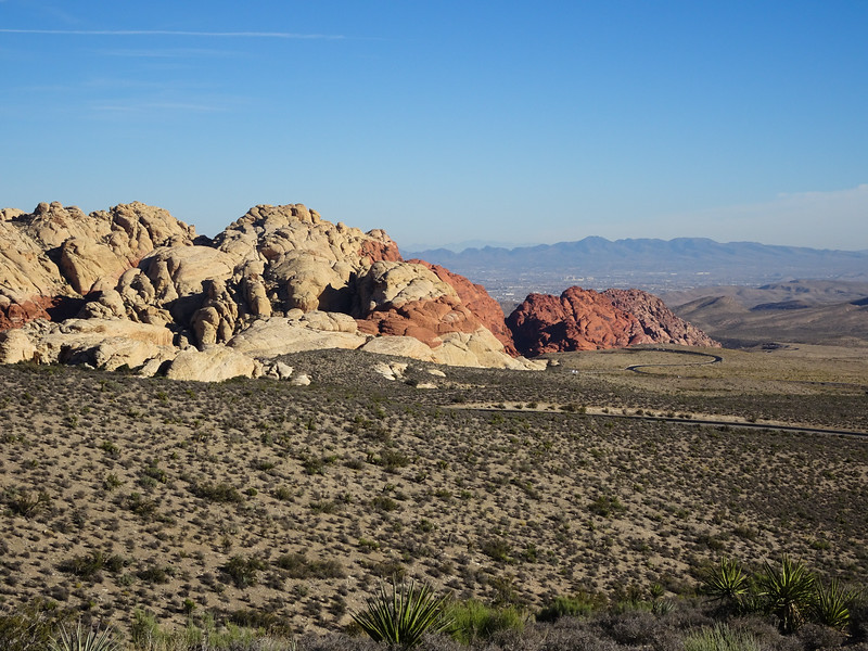 Red Rock Canyon Scenic Drive. Highest point on the scenic loop.