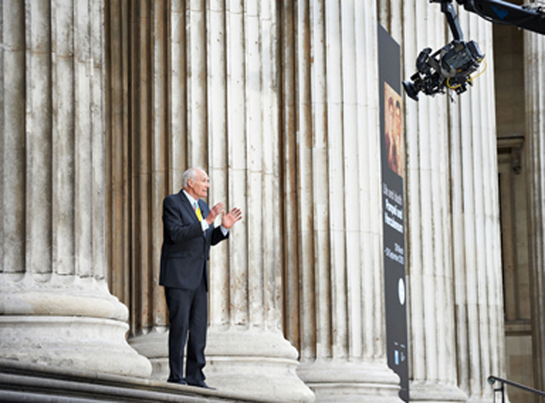"""Description of . Peter Snow, a British television reporter, presents """"Pompeii from the British Museum."""""""