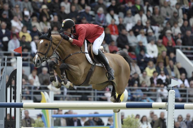 JUMPING : GregoryWATHELET sur Euphony Cadjanine Z COUPE DES NATIONS 2012 -  CSIO DE LA BAULE 2012 - PHOTO : © CHRISTOPHE BRICOT