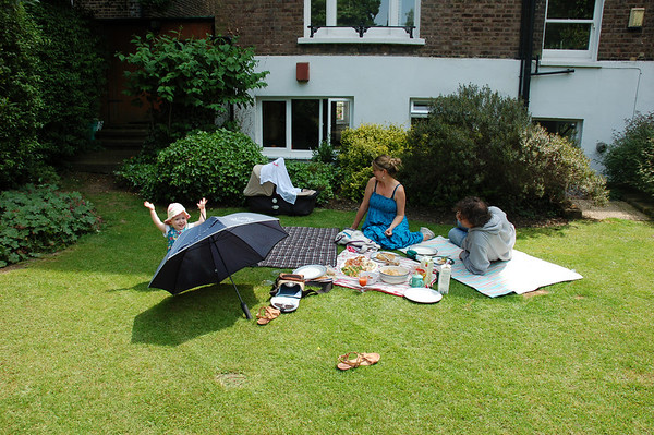 picnic in our garden