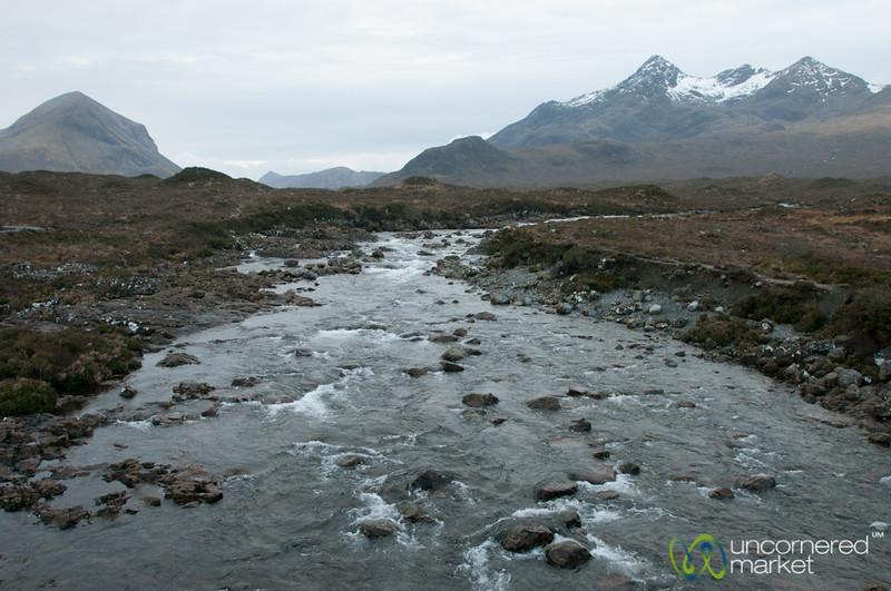 Sligachan River and Mountains - Isle of Skye, Scotland