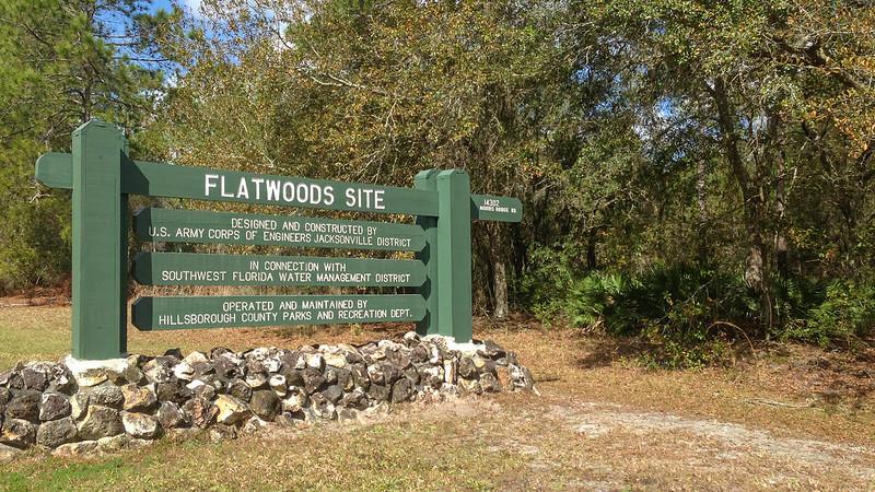 Flatwoods Park sign