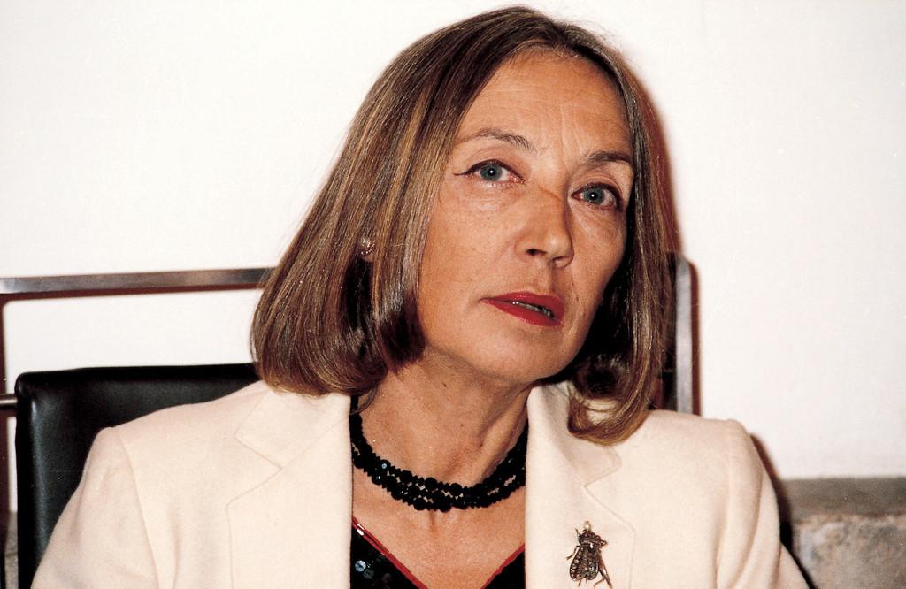 . Italian veteran journalist and writer Oriana Fallaci in 2002. (AP Photo/Gianangelo Pistoia)