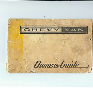 1965 Chevrolet G10 Van Owner's Manual