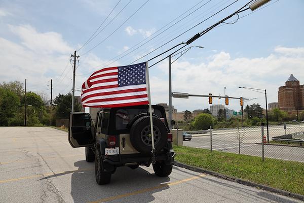 Jeep American Flag