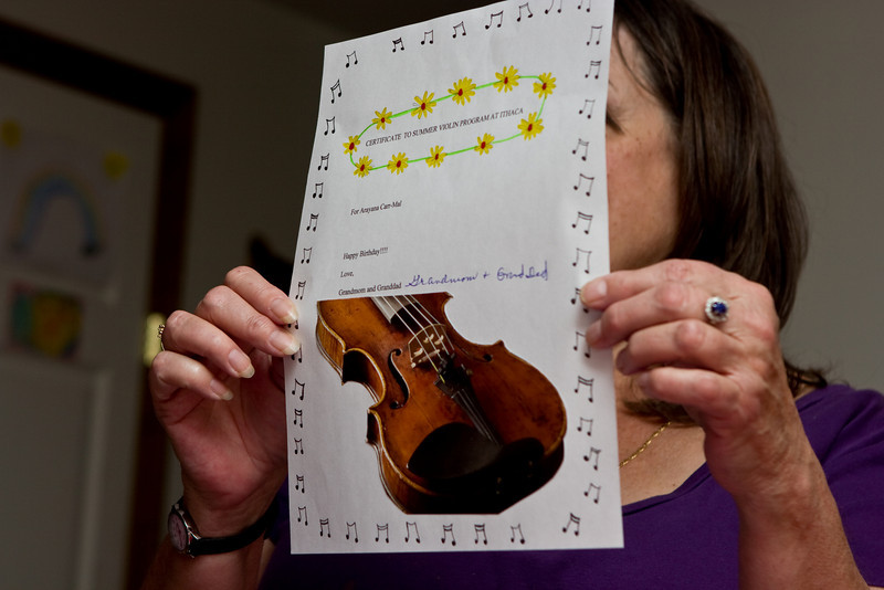 """Certificate to Summer Violin Program at Ithaca"""