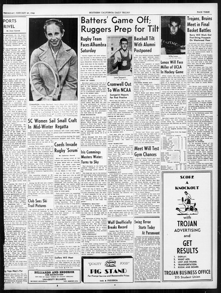 Daily Trojan, Vol. 31, No. 94, February 29, 1940