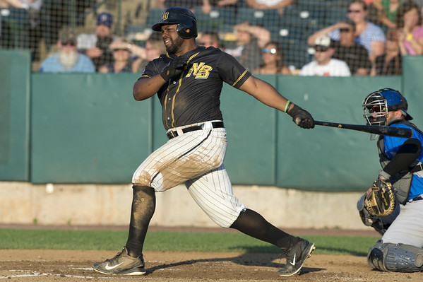The New Britain Bees vs the Sugar Land Skeeters at New Britain Stadium on Friday July 5, 2019. Jason Rogers (9). | Wesley Bunnell | Staff