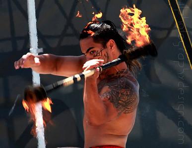 Jako Pupualii at Cirque Polynesian: Lances's Shots