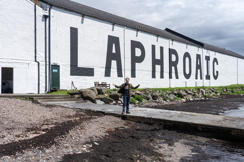 Elliot at Laphroaig Distillery
