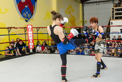 "Catherine Cruse v Diana ""The Anomoly"" Sanchez during Muay Thai Fight Night"