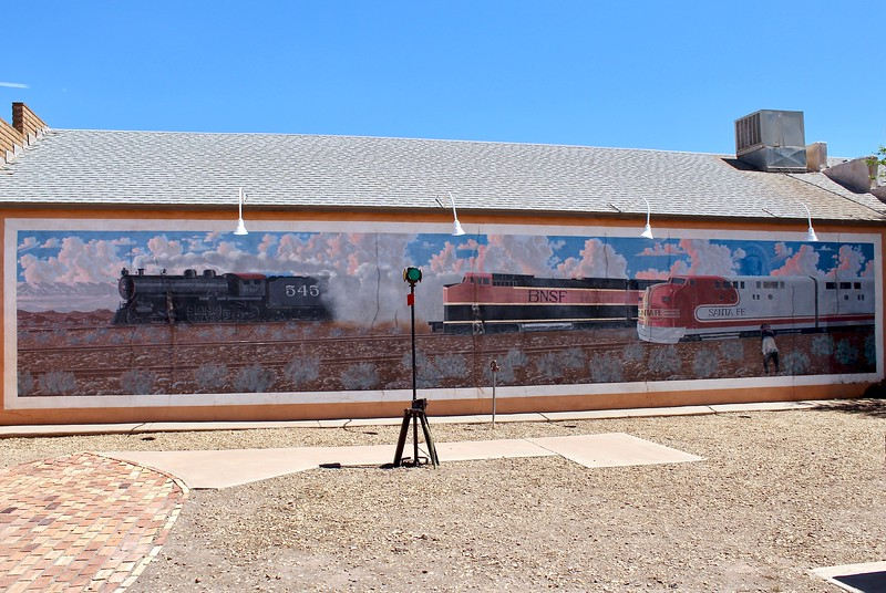 Railroad mural along State Route 87 (2018)