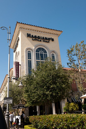 Photos in front of Maggiano's.