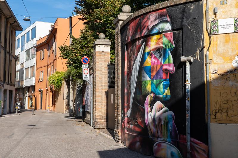 Dante street art in Ravenna