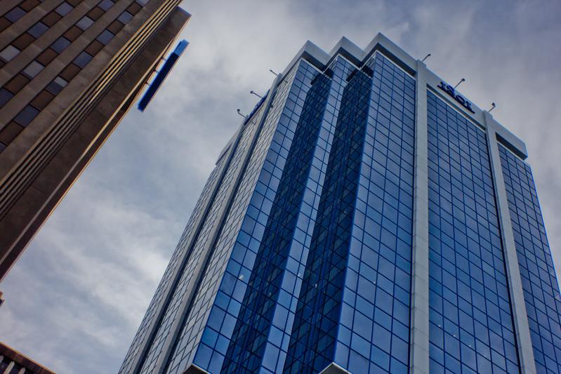 Reflective Blue Architecture in Halifax Nova Scotia