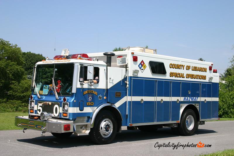 Lebanon County EMA Rescue 50: 1988 Mack/E-One (X-Annville, PA)