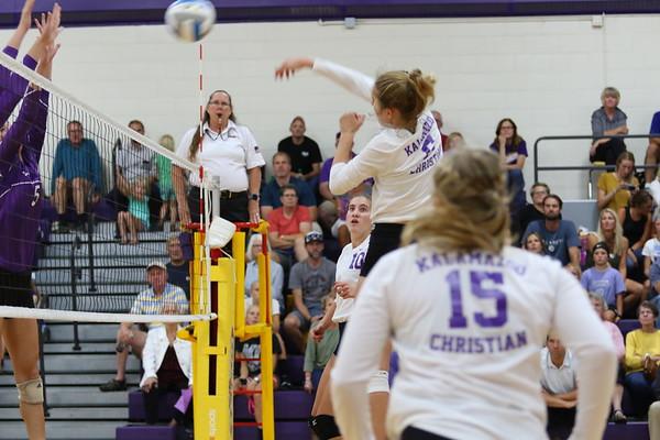 Volleyball Varsity vs Schoolcraft - KCHS - 9/11/18