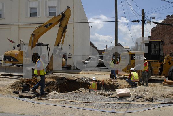 Erwin Downtown Revitalization Construction - June 2014