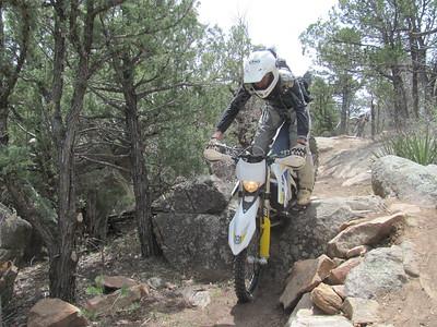 Cedro Peak - Otero Canyon areas ST Ride  4-13-15