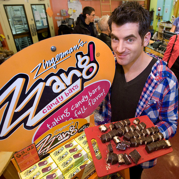 "Food Network' host, Adam Gertler, films an episode of ""Kid in a Candy Store"" at Zingerman's Bakehouse in Ann Arbor, MI."