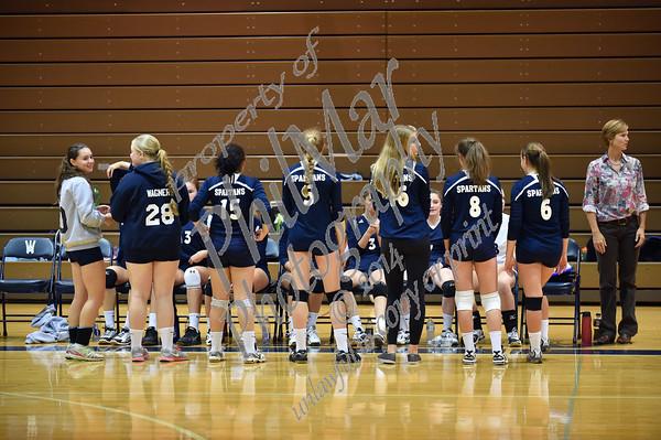 Wyomissing vs Oley Girls High school Volleyball 2014 - 2015