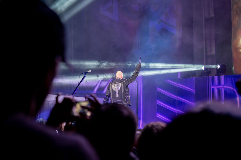 Rob Halford exits stage.