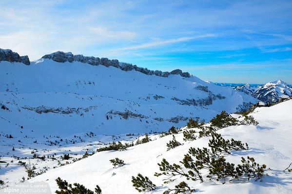 Untere Gotterackerwände ski tour, Kleinwalsertal 2012-12-29