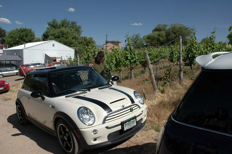 Parked near the vineyards of the Carlson winery.
