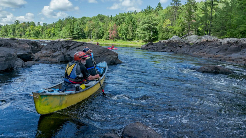 Paddling the Madawaska River, Aug 2012