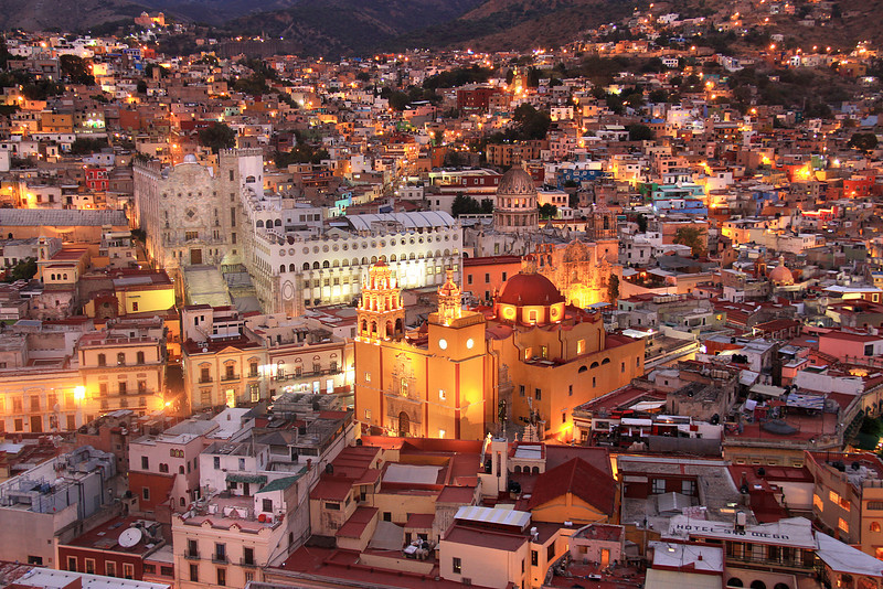 The hillside of Guanajuato