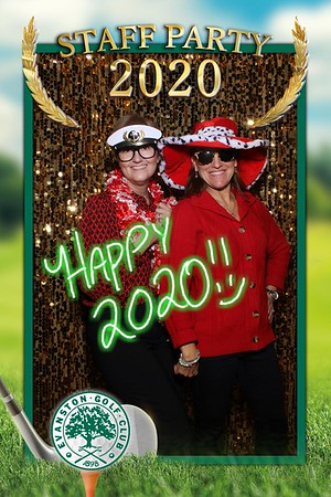 Evanston Golf Club Staff Party Mirror Booth 2020