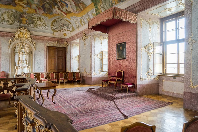 Inside Kromeriz Castle