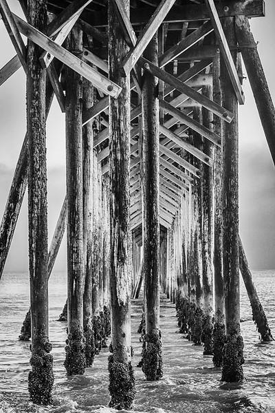 San Simeon Pier BW.jpg