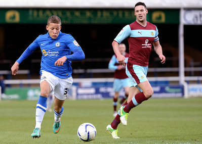 Peterborough United 2 - 2 Burnley 02.02.13  NO FOOTBALL IMAGES FOR SALE OR REPRODUCTION