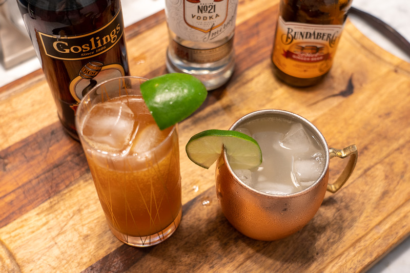 Dark n Stormy and Moscow Mule