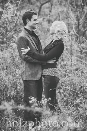 Rachel & Ben B/W Engagement Photos