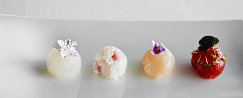 Sea Pearls - Crab, octopus, sea scallop, sashimi tuna