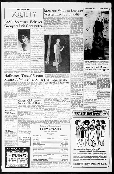 Daily Trojan, Vol. 55, No. 26, October 29, 1963