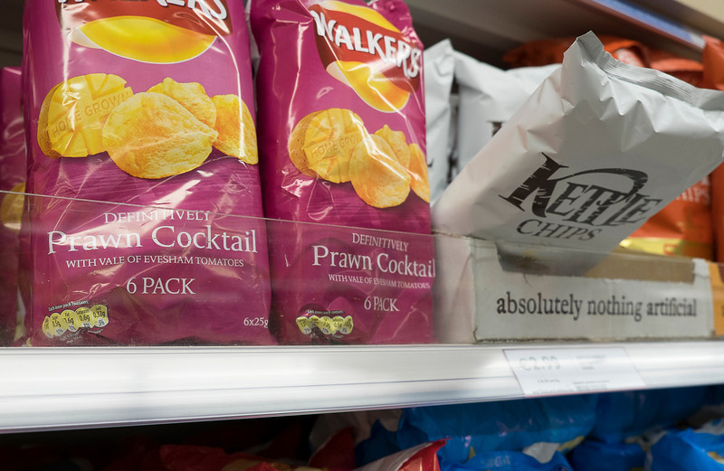 Prawn cocktail is a popular flavor for chips.  Kettle chips are from Oregon, dontcha know...