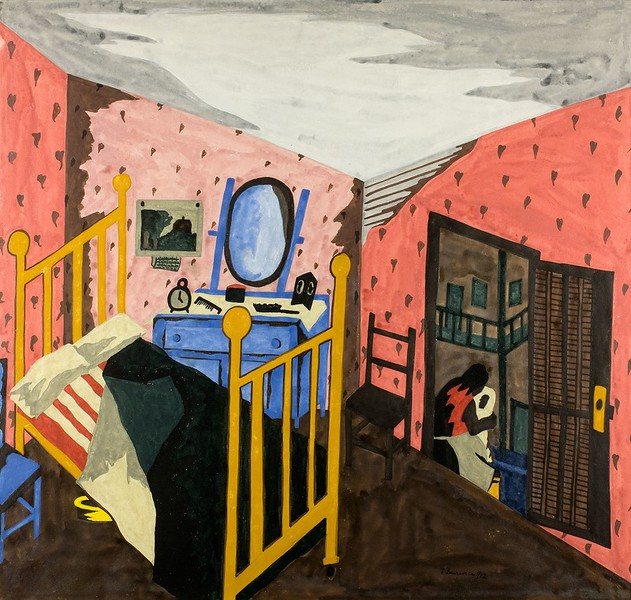 "Jacob Lawrence, ""Interior"" (1942)"