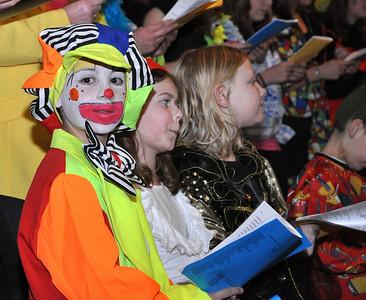 """Carnaval Uulehat 2012-Gebedsdienst """"Zotte kap en grap"""""""