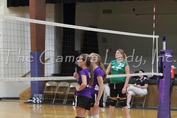 CHCA 2012 MS Girls B Volleyball Team vs New Miami 09.06