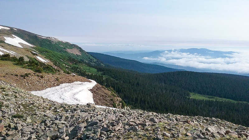Alpine view, above the clouds