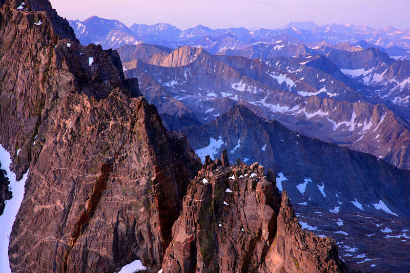 View Over the Palisade Range - Eastern Sierra Nevada - California Mountains