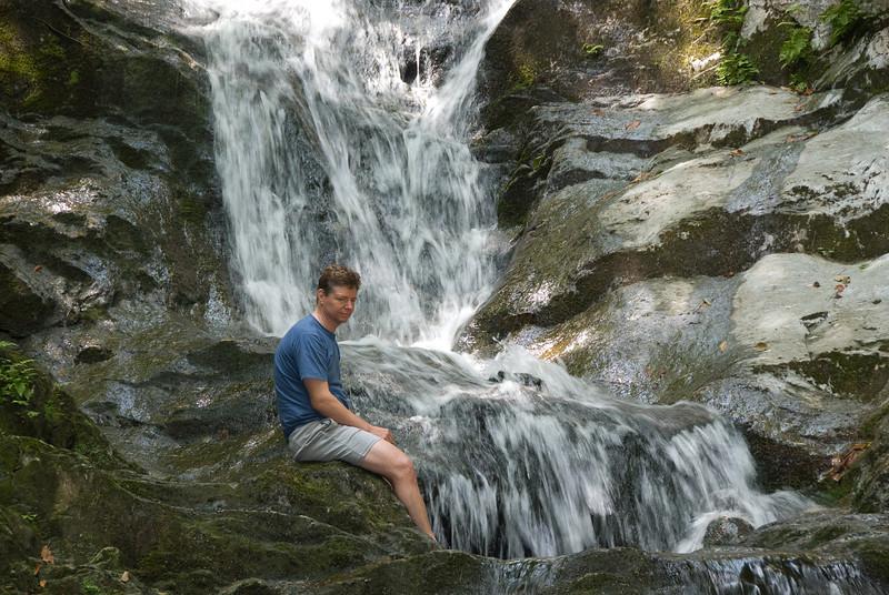 Steve on Tannery Falls   (Jul 07, 2007, 11:51am)