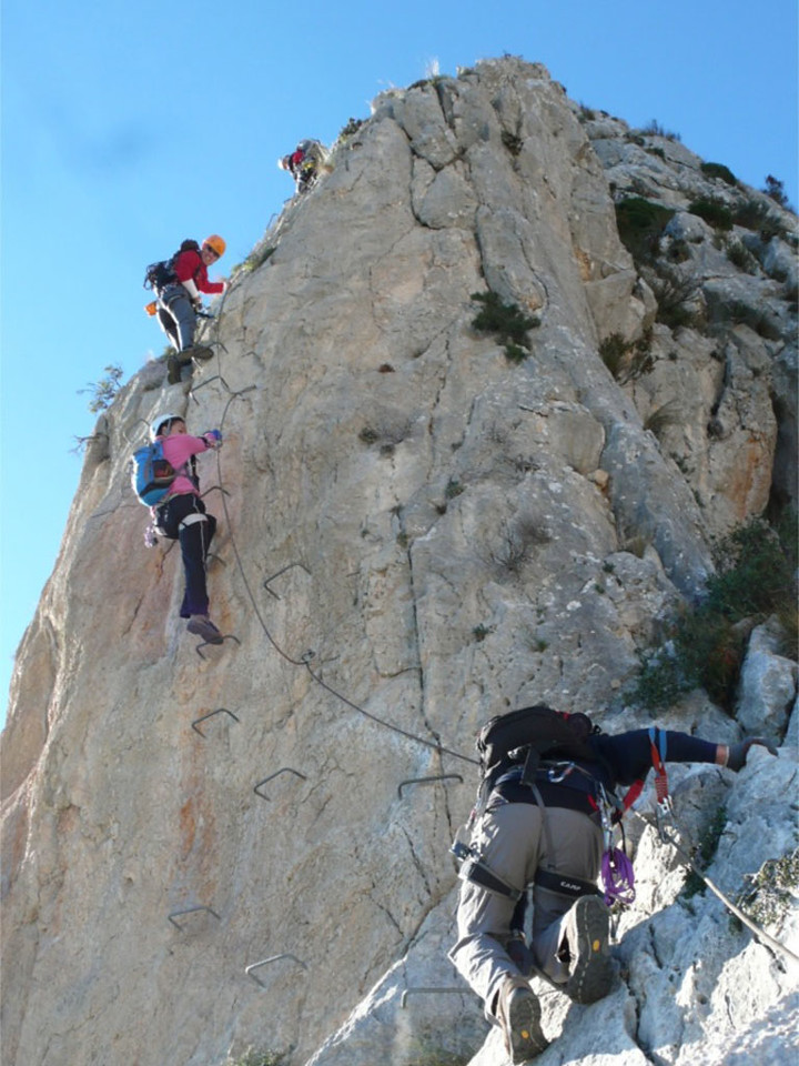 Final pitch on the Ponoch Via Ferrata
