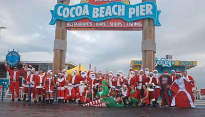 Cocoa Beach Pier Santa Demo