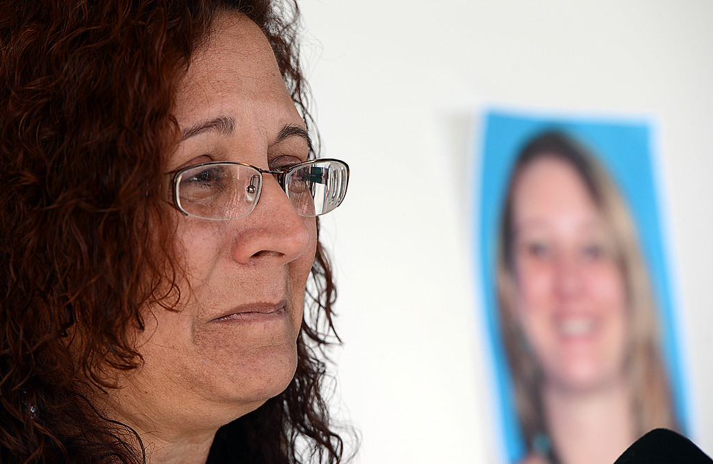 . Lucia Robles, mother of Ashley Atherley, talks about the murder of her daughter Ashley Atherley. San Bernardino police are searching for Edly Atherley, 33, of San Bernardino, for questioning in the stabbing and beating death of his wife, Ashley Atherley, 28. (Staff photo by Rick Sforza/The Sun)