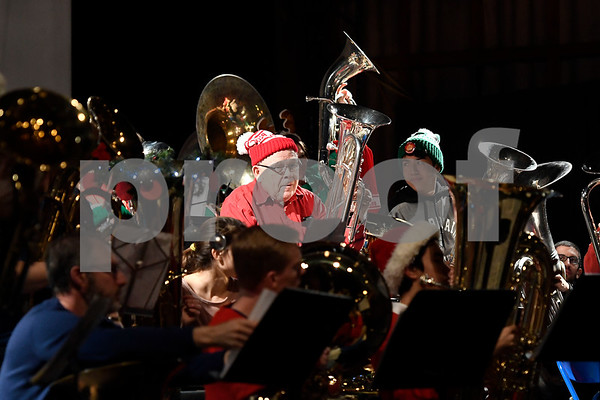 12/16/2017 Mike Orazzi | Staff The Annual New Britain TubaChristmas held at Trinity on Main Saturday afternoon.